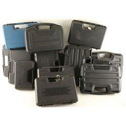Lot of 15 Plastic Pistol Cases
