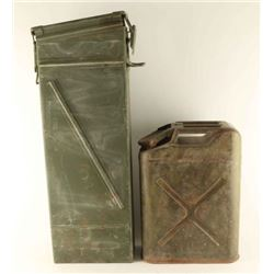 Large Ammo Can & US Military Gas Can