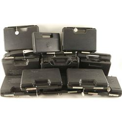 Lot of 14 Plastic Pistol Cases