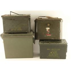 Lot of 4 Empty Ammo Cans
