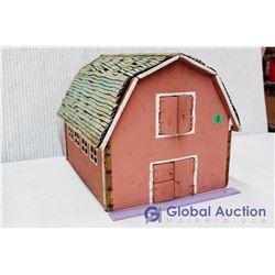 Vintage Handmade Toy Barn