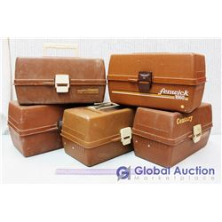 (5) Brown  Old Pal  Tackle Boxes