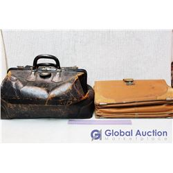 (2) Leather Doctor's Bags