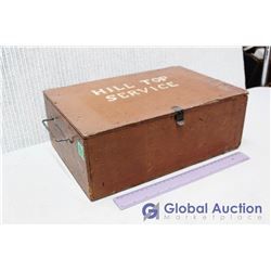 """Wooden """"Hill Top Service"""" Box"""