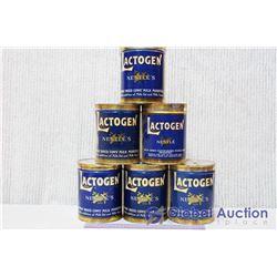 (6) Vintage Nestle Lactogen Tins