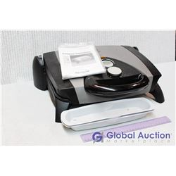 George Foreman Grill w/Manual and Accessories