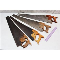 (4) Wood Saws