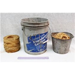 (2) Buckets and (2) Rolls of Twine
