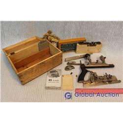 Vintage Stanley 45 Planer Set w/ Original Manual and Box