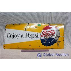 Enamel Pepsi Sign Single Sided (29.4 x12.4 )
