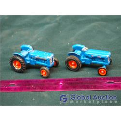 Pair Of Lesney Fordson Tractors