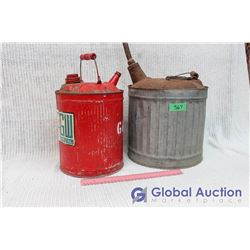 (2) Galvanized Gas Cans