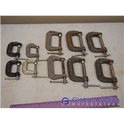 Lot of C Clamps (6x 2 , 4x1 )