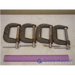 """Lot of 3"""" C Clamps (4)"""