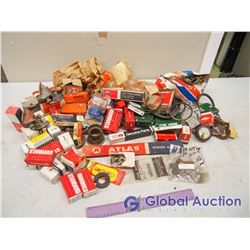 Box of Assorted Vintage Auto & Tractor Parts