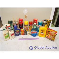 Lot of Assorted Grease, Oil, Sealant, Insecticide - Some Vintage