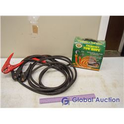 Tow Rope And Heavy Duty Booster Cable