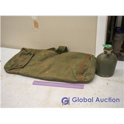 US Army Duffel With Plastic Canteen
