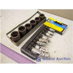 "1/2"" Drive Impact Socket Set W/ Adapter And U Joint Set"