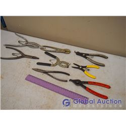 Lot Of Snap Ring Pliers