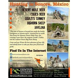 COUES DEER HUNT IN SANORA MEXICO - For Two Hunters with Erwins Outdoors