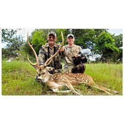 3 Day-2 Night Guided Hunt for 2 Hunters for Exotic Trophies with L& L Adventures near Wimberly, Texa