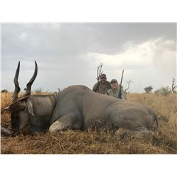 Namibia 2 hunter and observers for 1 Eland, 1 Oryx, 1 Warthog and Shoulder mnt of One African Ante