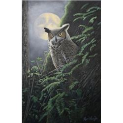 "Artist's original painting,""Nocturnal Eyes"""
