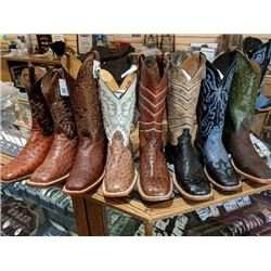 Exotic Hide Western Boots.