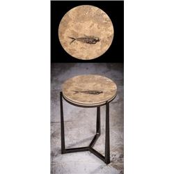 Custom Fossil End Table