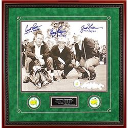 Signed Arnold Palmer, Jack Nicklaus and Gary Player Masters Golf Memorabilia Item