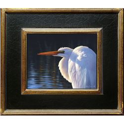 Larry Zach Original Painting – Egret
