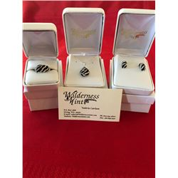 Swarovski Zebra Crystal Pendant, Earring & Ring