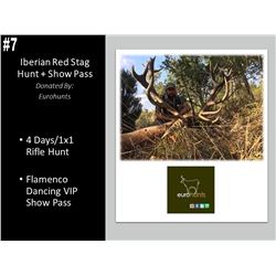 4 Day Free-range Iberian Red Stag Hunt W/ VIP Pass To Flamenco Show
