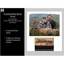 5 Day Scotland Roe Buck Hunt for 1 Hunter.