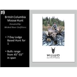 7 Day British Columbia Moose Hunt For 1 Hunter, Guided 1 On 1