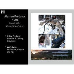 7 Day Alaska Winter Predator Trapline And Calling Excursion in Central Alaskan Range