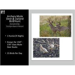 Archery Mule Deer Hunt And Upland Bird Hunt