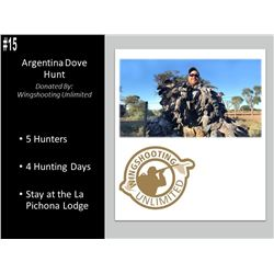 4 Day Argentina Dove Hunt For 5 Hunters