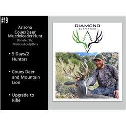 5 Day Arizona Muzzleloader Hunt For Coues Deer And Mountain Lion For 2 Hunters