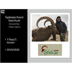 7 Day Pamir Ibex Hunt In Tajikistan With World Renowned Shikar Safaris