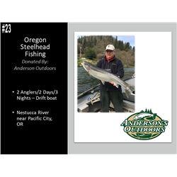 2 Day/3 Night Oregon Steelhead Fishing For 2 Anglers, Feb 8-11, 2020.
