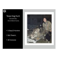 5 Day All-Inclusive Texas Hog Hunt For 2 Hunters