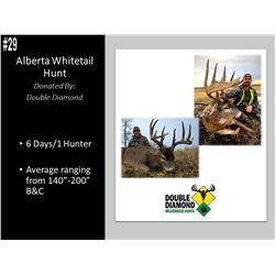 6 Day Alberta Whitetail Deer Hunt For 1 Hunter.