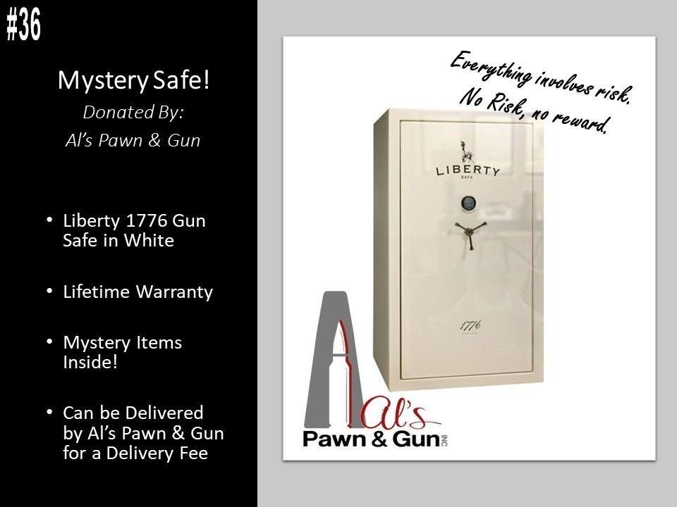Liberty 1776 Safe (White) MYSTERY SAFE