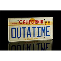 BACK TO THE FUTURE (1985) - OUTATIME' DeLorean Licence Plate