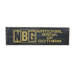 BATMAN RETURNS (1992) - National Bank of Gotham' Painted Gotham City Bus Bench Back