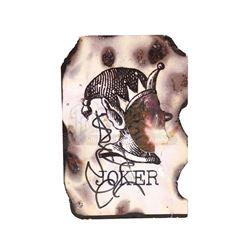 THE DARK KNIGHT (2008) - Heath Ledger Autographed Scorched Joker Card