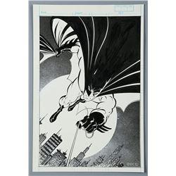 BATMAN / DETECTIVE COMICS #600 (1989) - Mike Zeck Hand-Drawn Batman Pin-up
