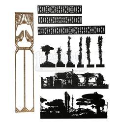 BLADE RUNNER (1982) - Los Angeles Skyline Miniature Components